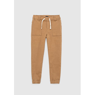 IKKS BOYS' SAND TROUSERS WITH ELASTICATED WAIST AND CUFFS