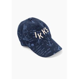 IKKS BOYS' NAVY TATTOO PRINT CAP