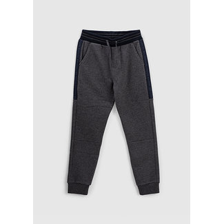 IKKS BOYS' CHARCOAL GREY MARL JOGGERS WITH SIDE BRAIDS