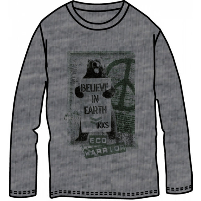 IKKS Boys' grey bear T-Shirt