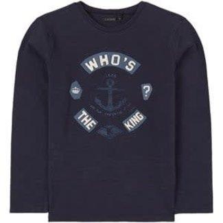 IKKS Boy's navy anchor print T-shirt