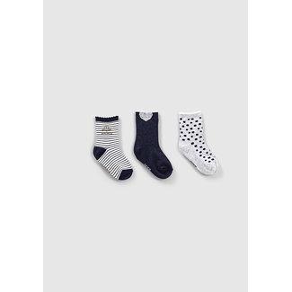 IKKS Baby girls' navy, grey and off-white socks