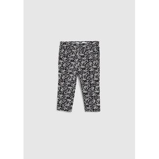 IKKS Baby girls' black flower print sweatshirt fabric trousers