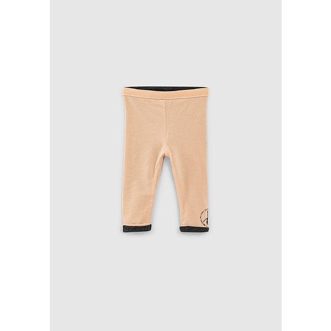 IKKS Baby girls' powder pink and grey reversible leggings