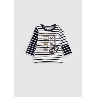 IKKS Baby boys' off-white sailor top + navy stripes and pennant