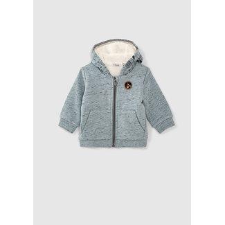 IKKS Baby boys' mist sweatshirt fabric cardigan + tattoo hood