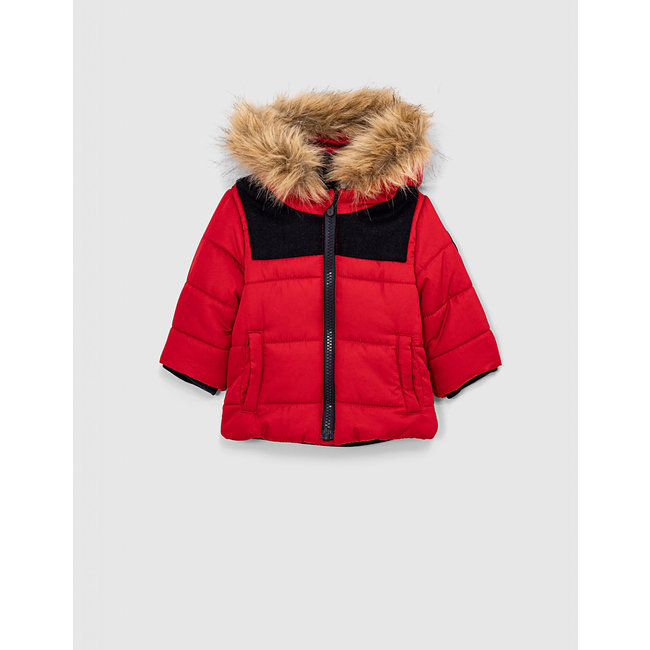 IKKS Baby boys' red down jacket
