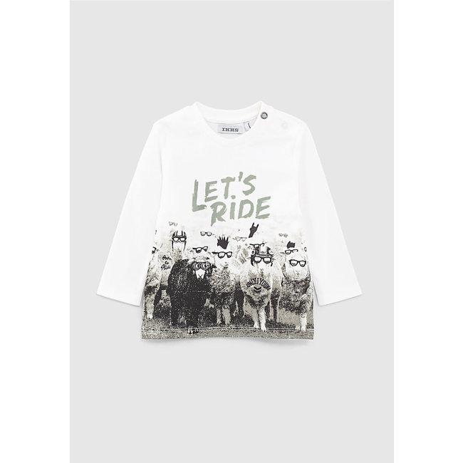 IKKS Baby boys' off-white sheep graphic T-shirt