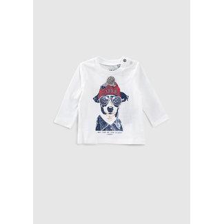 IKKS Baby boys' off-white dog graphic T-shirt