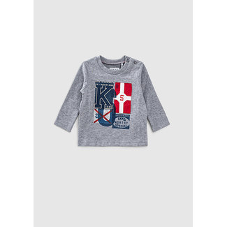 IKKS Baby boys' dark grey flag T-shirt