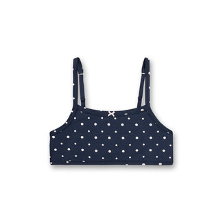 SANETTA Girls' bustier dark blue dots