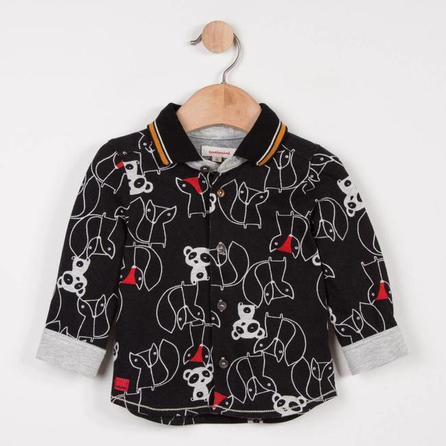CATIMINI ANIMAL GRAPHIC PRINTED JERSEY KNIT SHIRT