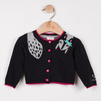 CHARMING CHARCOAL JACQUARD KNIT CARDIGAN