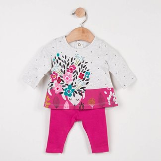 T-SHIRT WITH CHARMING PATTERN + PLAIN LEGGINGS