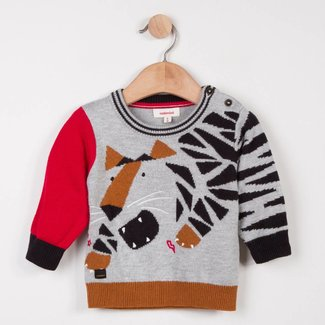 JACQUARD SWEATER WITH TIGER DESIGN