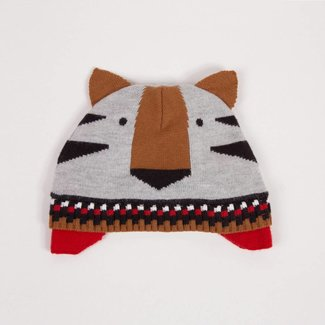 GRAPHIC JACQUARD KNIT HAT