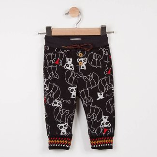 FLEECE JOGGING PANTS WITH ANIMAL GRAPHIC PRINT