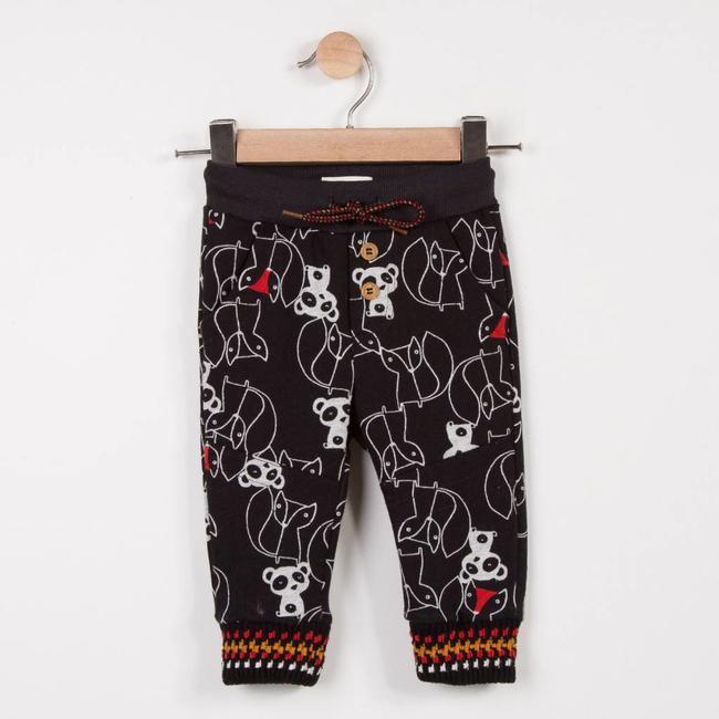 FLEECE JOGGING PANTS WITH ANIMAL GRAPHIC PRINT