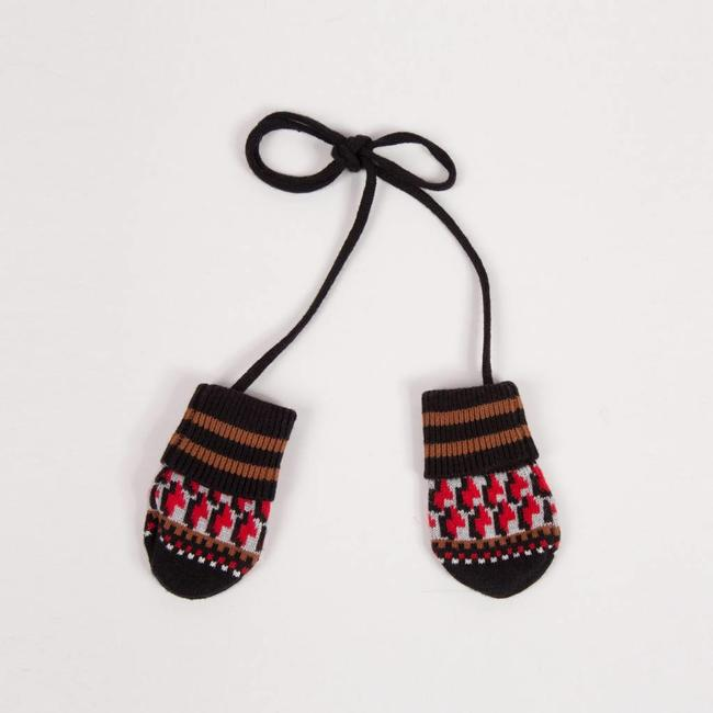 GRAPHIC JACQUARD KNIT MITTENS