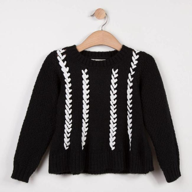 CATIMINI CHUNKY KNIT SWEATER WITH EMBROIDERED PATTERN