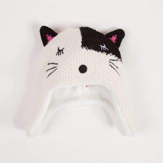 FLEECE LINED CAT KNIT HAT