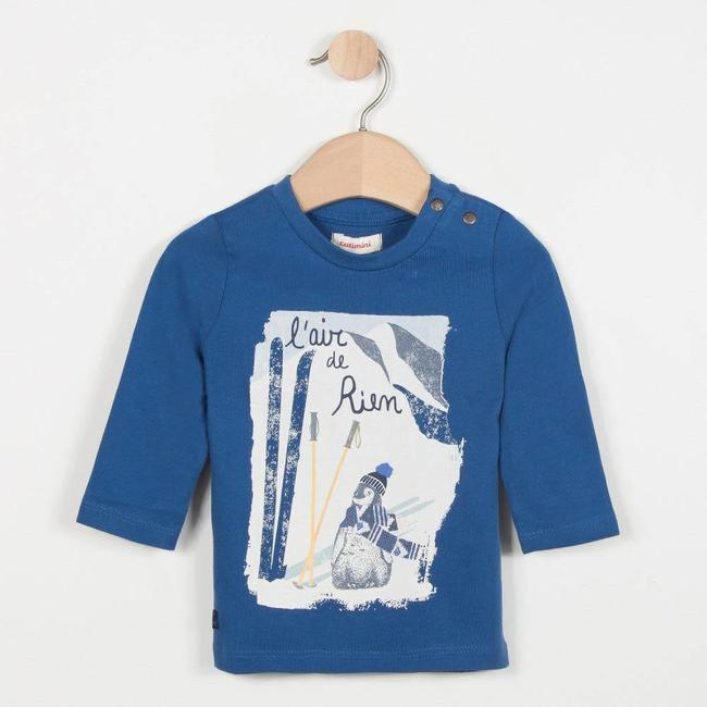 FJORD BLUE T-SHIRT WITH PENGUIN MOTIF