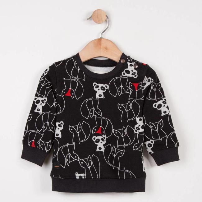FLEECE SWEATER WITH ANIMAL GRAPHIC PRINT