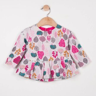 CATIMINI FLORAL PRINTED BLOUSE IN TWILL WEAVE