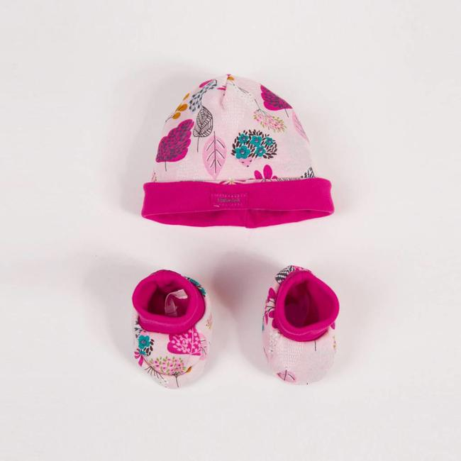 FLORAL PRINTED HAT + SLIPPERS