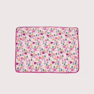 MICROPOLAR WRAP WITH FLORAL PATTERN