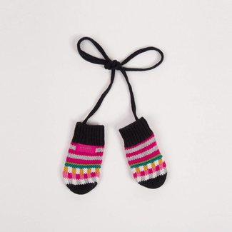 MULTICOLOURED KNITTED MITTENS