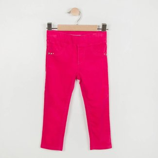 PINK STRETCH VELVET TREGGINGS