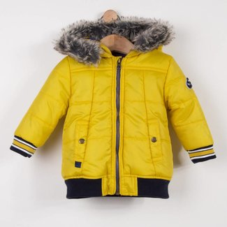 QUILTED PUFFA JACKET WITH FUR HOOD