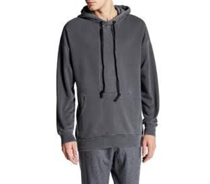 Contrast panel hooded sweat Style: 60-70502
