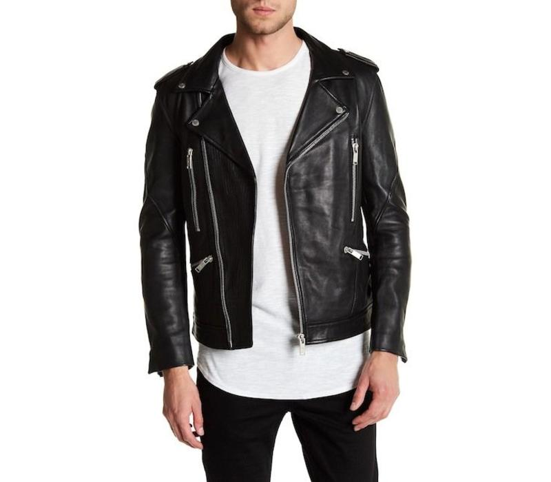 Cow leather biker jacket Style: 60-15501