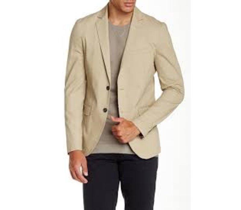 Cotton blazer w. contrast Style