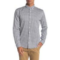 Colour block small print shirt