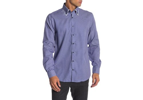 Lindbergh Double collar stretch structure shirt