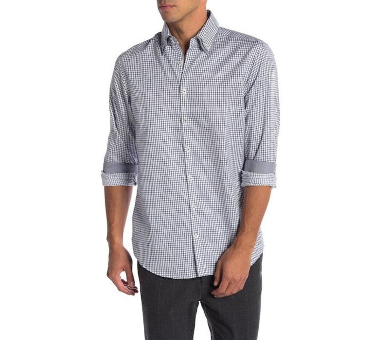 Double collar classic checked shirt