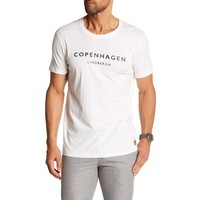 Mens Printed Crew-Neck Tee