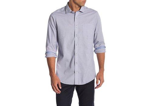 JACK'S Geometric weave shirt