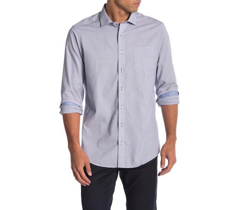 Geometric weave shirt