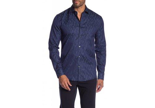 Junk de Luxe Jacquard pattern cotton L/S dress shirt