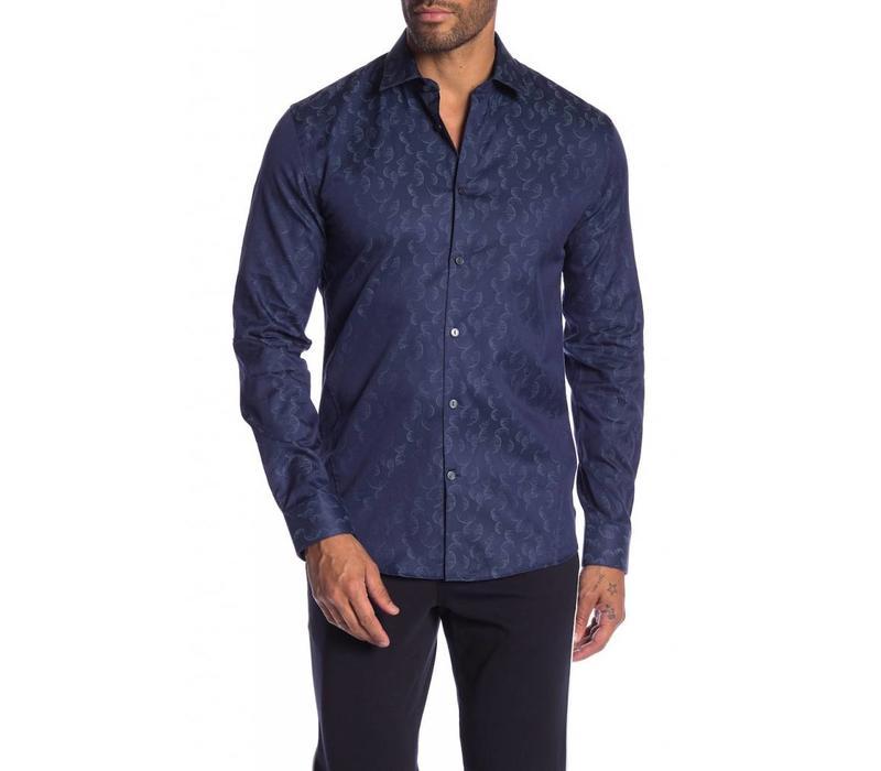 Jacquard Pattern Cotton Dress Shirt L/S Style: 60-20542