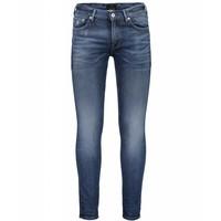 Heavy twill indigo skinny jeans