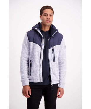 Lindbergh Quilted Jacket W. Knit Sleeves