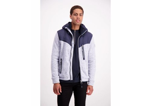 Lindbergh Quilted jacket with knit sleeves