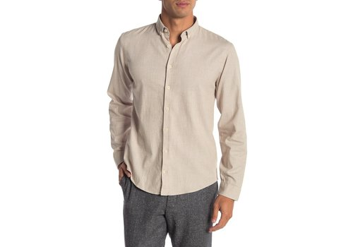 Lindbergh Mouliné Stretch Shirt L/S