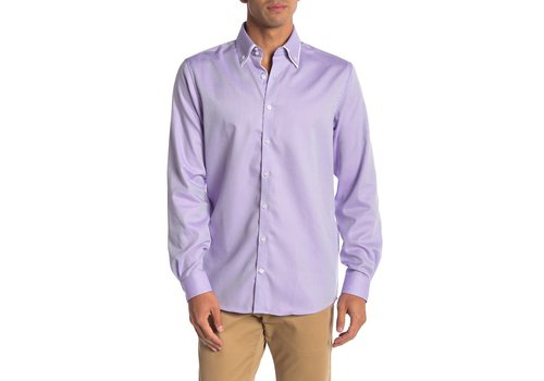 Lindbergh Structure Shirt W. Double Collar L/S