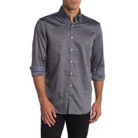 Jacquard shirt with double collar